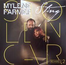 """Mylène Farmer / Sting 12"""" Stolen Car (Remixes 2) - France (M/M)"""