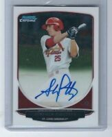 2013 BOWMAN CHROME STEPHEN PISCOTTY OAKLAND ROOKIE ON CARD AUTOGRAPH AUTO RC
