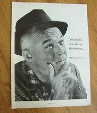 1959 Marlboro Cigarette Ad Decisions Decisions Soft Pack or Flip Top Box ?