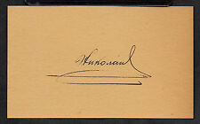 Tsar Nicholas II of Russia Autograph Reprint On Genuine 1910s 3x5 Card