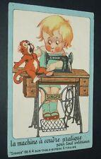 RARE CPA 1920-1930 CHROMO PUBLICITE MACHINE COUDRE SINGER 66 K 4 TABLE 5 TIROIRS