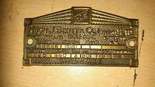 "Vintage Original Cast Brass Machine Plate ""Hugh J Scott Belfast Ltd"