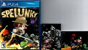 Spelunky Ps4 New Includes Limited Run Trading Cards #409 #410 Treasure Danger