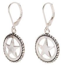 Texas Star Earrings Dangle Western Jewelry Lead Nickle Free Rustic Gift New