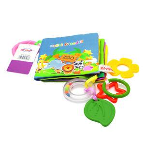 Kleinkind Baby Stoff Buch Fühlbuch Knisterbuch Spielzeug für Frühes Lernen e