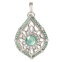 NEW Authentic Origami Owl SILVER TEARDROP MOROCCAN LIVING LOCKET W/ Crystals
