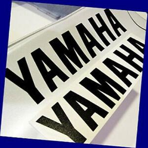 Yamaha BLACK 6.5in 16.5cm decal decals sticker r1 r6 yz fz8 fzr 600 zuma fazer
