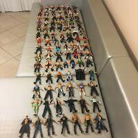 Vintage Wrestling Figures WWF WWE WCW Titan Tron Jakks Action Figures Lot of 95