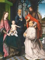 Jan Provoost Virgin Child St Jerome Old Master Art Painting Canvas Art Print