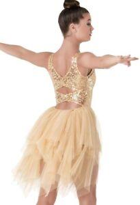 Weissman 8676 LC (14) Child Lyrical Dance Costume Dress,