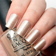 OPI ~UP FRONT & PERSONAL~ Gold Nude Glitter Shimmer Nail Polish Lacquer .5oz B33