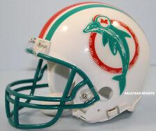 MIAMI DOLPHINS (1980-1996 Throwback) Riddell VSR4 Mini Helmet