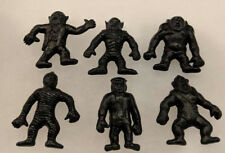 "Vintage 60's Figural Horrible Monsters Rubber Jiggler Figures 2"" 6 Pcs Vending"