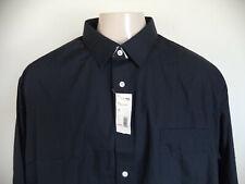 Men's Black David Taylor L/S Dress Shirt. 19 1/2 (34/35). 65% Polyester/35% Cott
