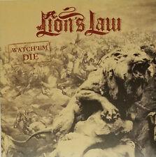 """Lion's Law – Watch'em Die 7"""" lp - Black Vinyl - Great OI PUNK - new copy"""