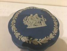 Vintage Wedgwood England Jasperware Blue Trinket Box