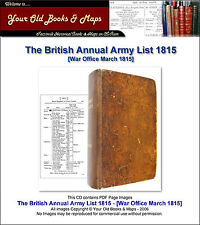 British Army List 1815 [Annual] CDROM Waterloo