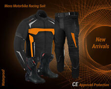 Waterproof Motorbike Motorcycle Riding Suit Leather Shoes Biker Jacket Trouser