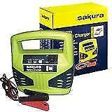 NEW SAKURA CAR BATTERY CHARGER 12 VOLT 8 AMP UP TO 2.5 L CARS SS3631