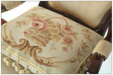 "18"" Chic Shabby French Decor Aubusson Throw Pillow Cover 100% Wool Handwoven"