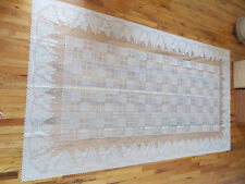 HERITAGE LACE IVORY CHRISTMAS TREES TABLECLOTH 60W BY 108L ITEM 5016