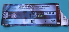 OLD TICKET EC3 Lech Poznan Poland Austria Wien