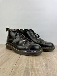 Dr Martens CHURCH monkey Boots Quad DMs Docs UK Size 6 Black Leather 5 Hole