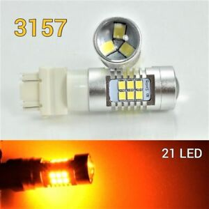 Parking Light 3157 3057 4157 Peformance Auto 21 SMD LED Amber B1 12 For Plymouth