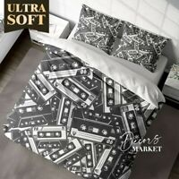 Tape Music Art Classic Black&White Quilt Cover King Bed Single Double Queen Size
