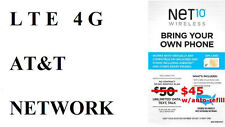 ----->>>> DUAL SIM CARD FROM NET10 / AT&T UNLIMIED DATA TALK TEXT 411