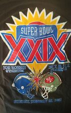 Vintage Large 1995 super bowl XXIX 49ers chargers miami 1994 nfl steve young D1