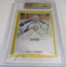 2015-16 Leaf Metal Hockey Troy Timpano 1/1 Gold Pre-production PROOF Card