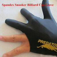 Three Fingers Accessory Left Hand Black Spandex Snooker Billiard Cue Glove Pool