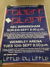 "Estate 80s Uk Robert Plant London England Tour Poster Huge 40""x60"" Wimbley Arena"
