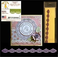 Lilith Doily Edger Border metal die Cheery Lynn Designs dies B404 scallop,lace