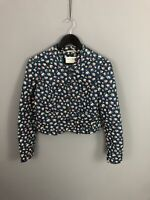 JACK WILLS Quilted Jacket - UK10 - Floral - Great Condition - Women's