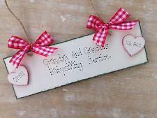 """Handmade Shabby Chic """"Grandma And Grandad's Babysitting Service"""" Gift Sign"""