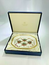 Vintage Boxed Halcyon Days Floral Trinket Dish