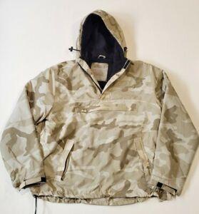 Surplus Raw Vintage Military Anorak Pullover Desert Camo Mens Med/Large Fleece