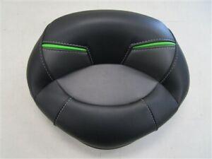 """NITRO FISHING / CASTING SEAT CUSHION BLACK / GRAY / GREEN 16 3/4"""" X 12 1/2"""" BOAT"""