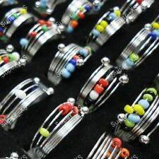 5pcs colorful beads iron spring rings wholesale lots Fashion new free shipping