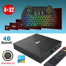 2018 T9 4+32GB Android 8.1 Oreo TV BOX Quad Core USB 3.0 4K Movies BT+Keyboard