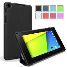 Poetic Slimline Flip Leather Premium Case Stand for Google Nexus 7 2nd Gen Black