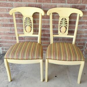 Ethan Allen Legacy Pineapple Set of 2 Dining Room Chairs 13 6302 633 (st2o3)