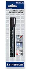 Staedtler 350-9 BKDA Lumocolor Black Permanent Marker Pen Chisel Type Tip
