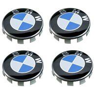 4X GENUINE ORIGINAL BMW  E46 E90 X5 M3 ALLOY WHEEL CENTER CAPS HUB BADGES
