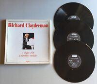 Ref514 3 Vinyles 33 Tours Coffret Richard Clayderman 3 Disques D'or