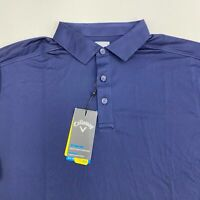 New Callaway Opti Dri Polo Shirt Men's Size Large Short Sleeve Navy Cooling