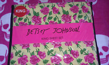 Betsey Johnson King Sheet Set NWT