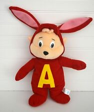 """ALVIN & the Chipmunks Plush Doll Red Bunny Costume Toy Network 12"""""""